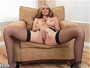 crazy cougar Julia Ann gives a messy point of view oral job