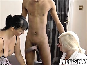 LACEYSTARR - Mature doctor penetrated by interracial couple