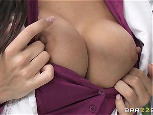 doctor Mercedes Carrera works wonders with her jugs