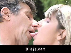 Gina Gerson gets anal invasion from an aged fellow