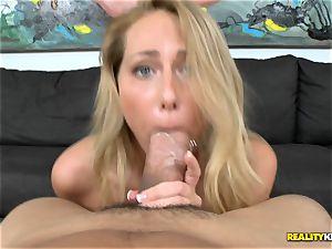 Carter Cruise gets her gullet plump a monster
