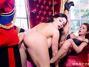 Right royal three way with Aletta Ocean and Madison Ivy