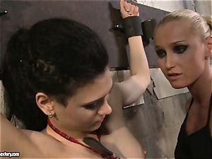 Kathia Nobili tormenting a nasty school lady