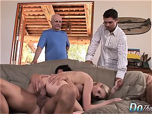 uber-sexy blond wife plows in front of spouse