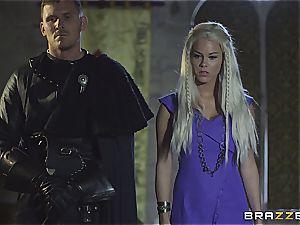 Daenerys Targaryen gets torn up by Jon Snow on the metal Throne