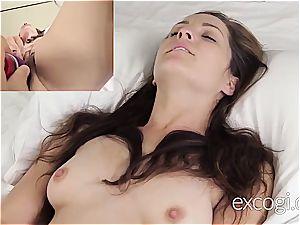 ultra-cute very first timer luvs her pornography debut cum facial