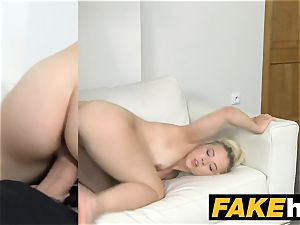 fake Agent nubile puffy mounds model banged on the casting