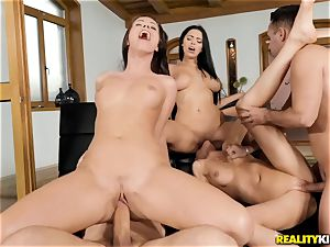 lil' Kay and Vicky enjoy foursome