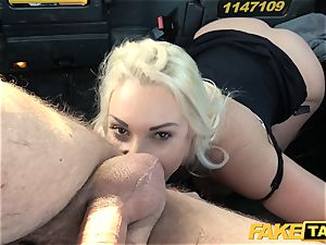 fake cab blonde mummy Victoria Summers smashed in a taxi