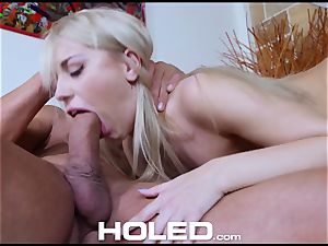 HOLED rectal fuckin' penetrate with lil' towheaded Kira Thorn