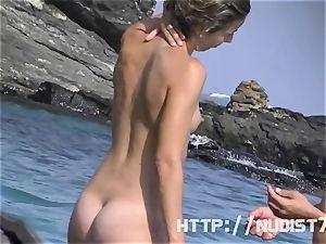 Some stunners on a nudist beach
