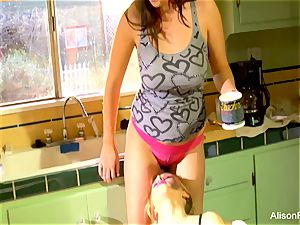 Alison Tyler and Katie Summers nail in the kitchen