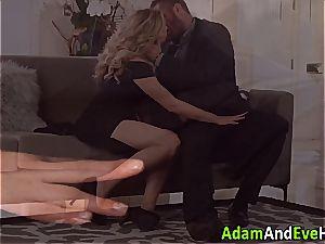 sexy duo Mia Malkova and Danny Mountain humping