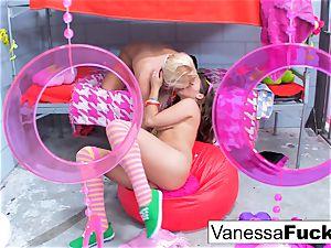 big-titted Natasha lovely plumbs Vanessa cage
